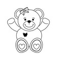 girly teddy bear baby or shower related icon imag vector image vector image