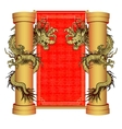 gold dragon on a pole on the background of vector image vector image