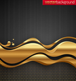 golden stream waves vector image