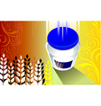 grain product in bottle vector image vector image