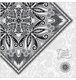 grey oriental decorative template for greeting vector image vector image