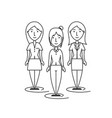 group businesswoman people working together vector image vector image