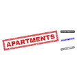 grunge apartments textured rectangle watermarks vector image vector image