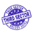 grunge textured third sector stamp seal vector image vector image