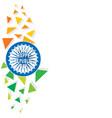 happy republic day banner vector image vector image