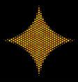 hexagon halftone sparkle star icon vector image