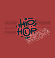 hip hop design with a dj sound mixer and vector image vector image