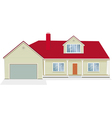 house with garage vector image vector image