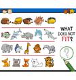 improper element task for kids vector image vector image