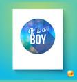 its a boy newborn announcement template vector image
