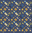 jew icons seamless pattern vector image vector image