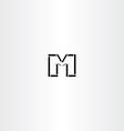 m letter icon black symbol logotype vector image vector image