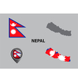 Map of Nepal and symbol vector image