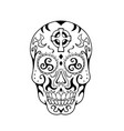 mexican skull triskele celtic cross tattoo vector image vector image