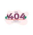 modern flat design 404 error page can be used vector image