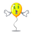 money eye yellow balloon isolated on for mascot vector image
