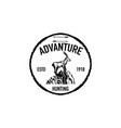 mountain goat retro logo vector image