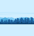 mountains landscape with trees silhouettes in the vector image vector image