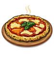 neapolitan pizza vector image vector image