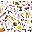 pattern of repair working tools vector image