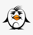penguin logo for your design vector image vector image
