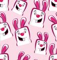 pink rabbits vector image vector image
