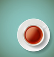 red tea Stock vector image vector image