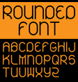 rounded font poster vector image vector image