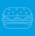 sandwich icon outline style vector image