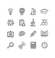 Science Outline Black Icons Set vector image vector image