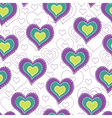 seamless background with color hearts vector image vector image
