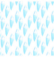 seamless pattern with blue crystals vector image vector image
