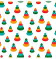 Seamless pattern with colorful baby toys for vector image vector image