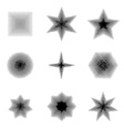 set halftone dots shapes vector image vector image