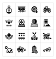 Set icons of agriculture vector image vector image