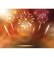 Set of Festive Fireworks on the blue Background vector image vector image