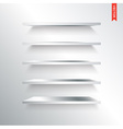 Set of Metal or Steel Shelves Isolated on the Wall vector image