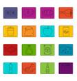 shop navigation foods icons doodle set vector image vector image