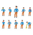 sick characters set of people with pain and vector image
