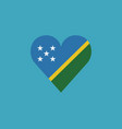 solomon islands flag icon in a heart shape in vector image vector image