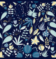 summer seamless pattern with lovely blooming vector image vector image