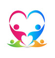 teamwork family people caring and loving each vector image vector image