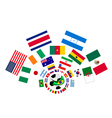 The 32 Nations in The Brazil 2014 vector image vector image