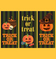 trick or treat vertical images vector image vector image