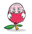 upside down face lychee cartoon character style vector image
