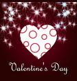 valentines day greetings card with dark background vector image vector image