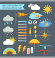 weather forecast infographic set vector image vector image