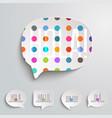 web speech bubbles vector image vector image