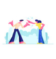 young family quarrel and swear outdoors vector image vector image