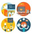 web studio workplace concept internet page vector image